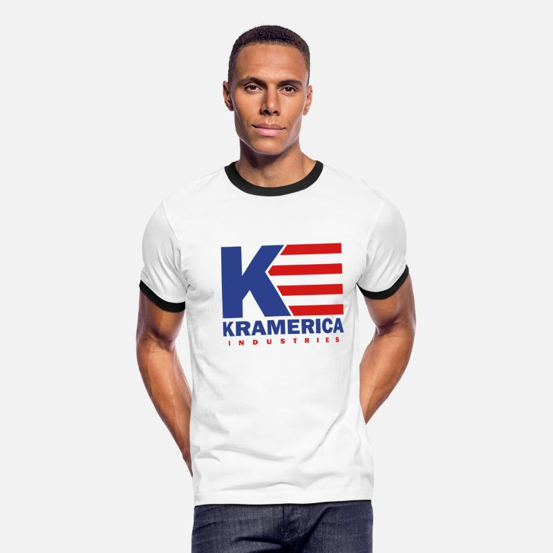 Ringer T-Shirts - Kramerica Industries - Men's Ringer T-Shirt white/black