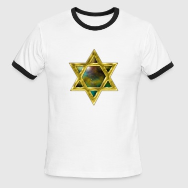 Star Wars. 3d Star of David - Men's Ringer T-Shirt