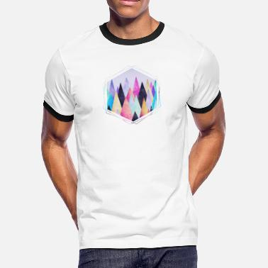 Geek Geometry  Hipster triangles (geometry) Abstract Mountains  - Men's Ringer T-Shirt