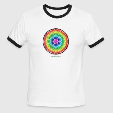 Flower of Life Sacred Geometry - Men's Ringer T-Shirt