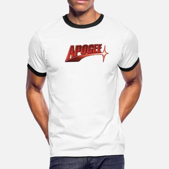 Apogee Vintage DOS Gaming Men's Ringer T-Shirt - white/black