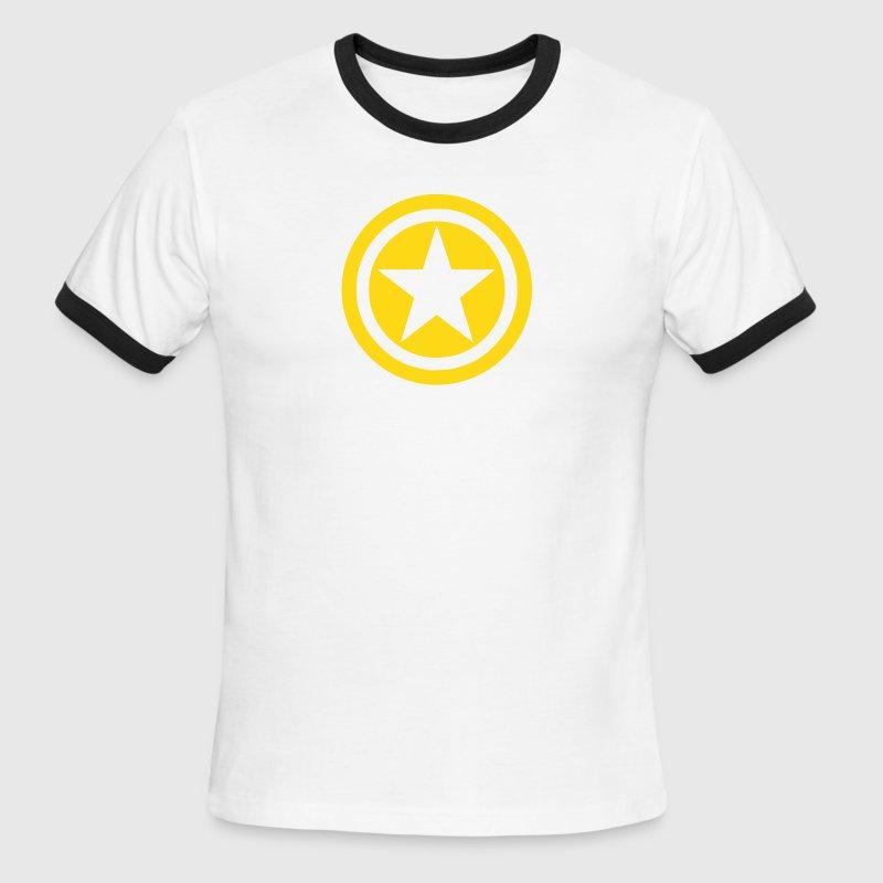 Star in Circles - Men's Ringer T-Shirt