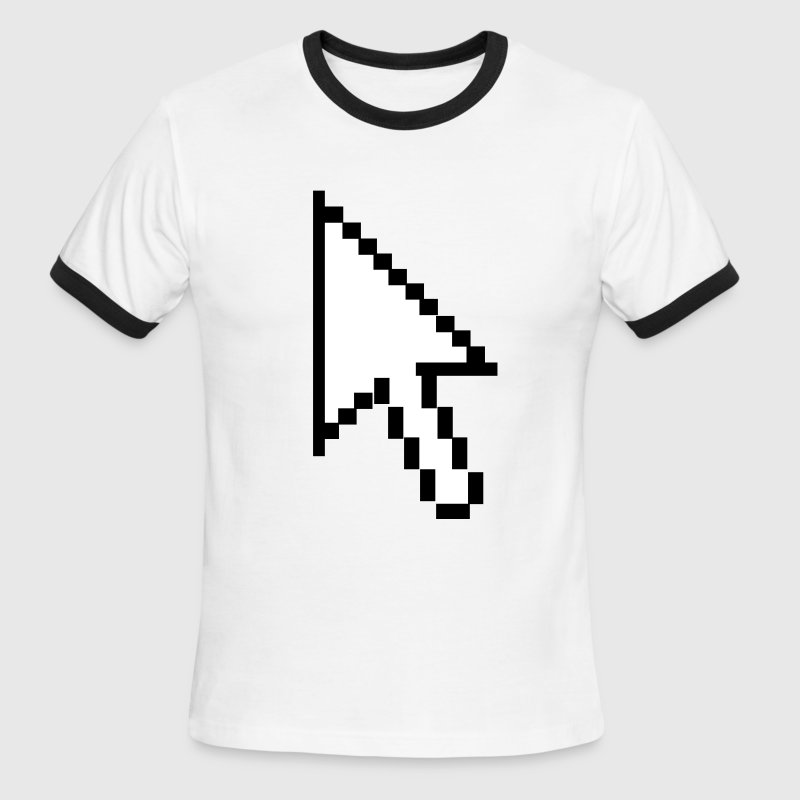 pc computer pointer arrow intel IBM - Men's Ringer T-Shirt