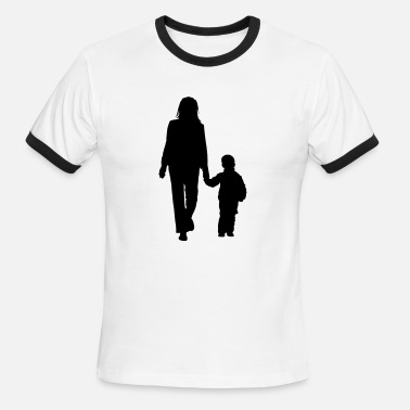 No 2 Son In Law mother and son silhouettes 2 - Men's Ringer T-Shirt