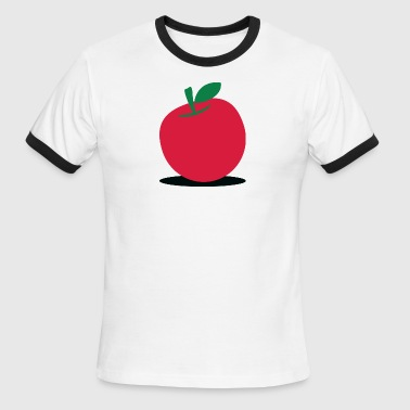 Apple Shapes A Delicious Red Apple! - Men's Ringer T-Shirt