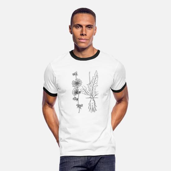 Vegetarian T-Shirts - kraeuter rosmarin petersilie thymian dill oregano - Men's Ringer T-Shirt white/black