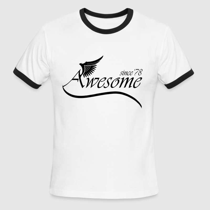 Awesome Since 1978 - Men's Ringer T-Shirt