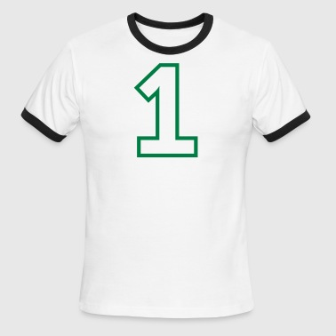 Sports Numbers Sport Number 1 One - Men's Ringer T-Shirt