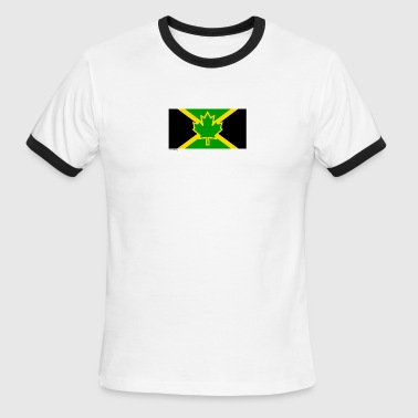 Jamaican Flag Canadian Jamaican Flag - Men's Ringer T-Shirt