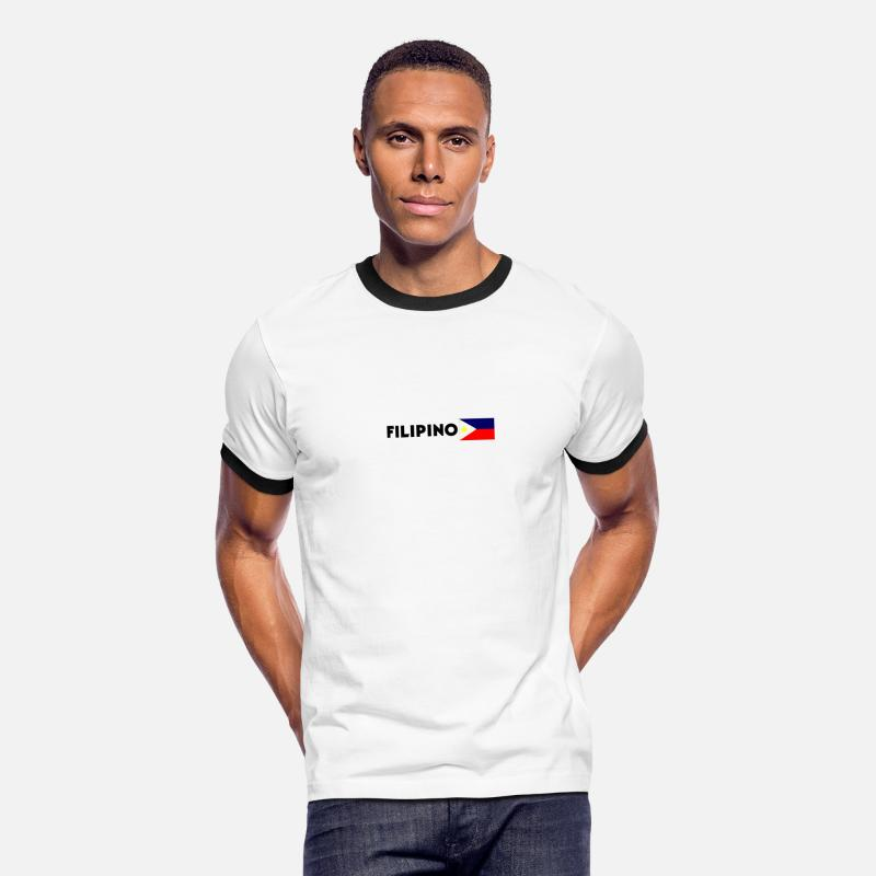 Filipino T-Shirts - Filipino - Men's Ringer T-Shirt white/black