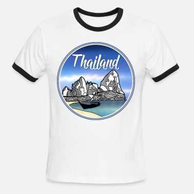 Krabi Thailand tropical beach - Men's Ringer T-Shirt