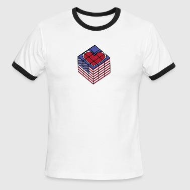 American Icon Cities american cube 2nd edition - Men's Ringer T-Shirt