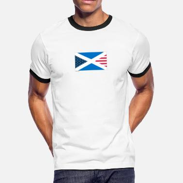 The Olympic Games Olympic Games Scotland USA Flag - Men's Ringer T-Shirt