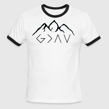 God is Greater than the Highs and Lows - Men's Ringer T-Shirt