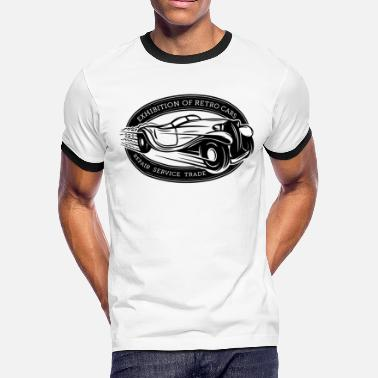 Retro Car Retro Car - Men's Ringer T-Shirt