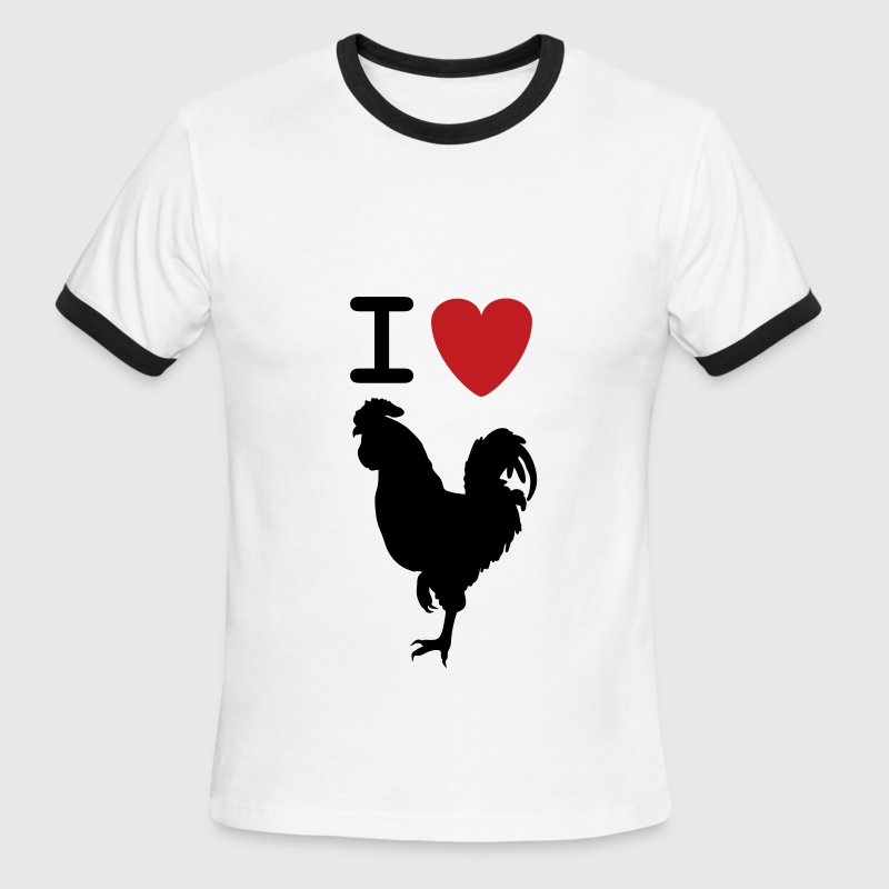 I heart Cock - Men's Ringer T-Shirt
