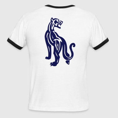 Wild Large Cat on the Prowl - Men's Ringer T-Shirt