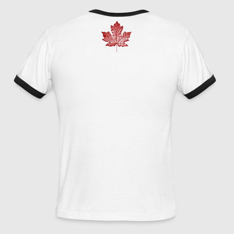 Canada Souvenirs Canadian Maple Leaf Gifts - Men's Ringer T-Shirt