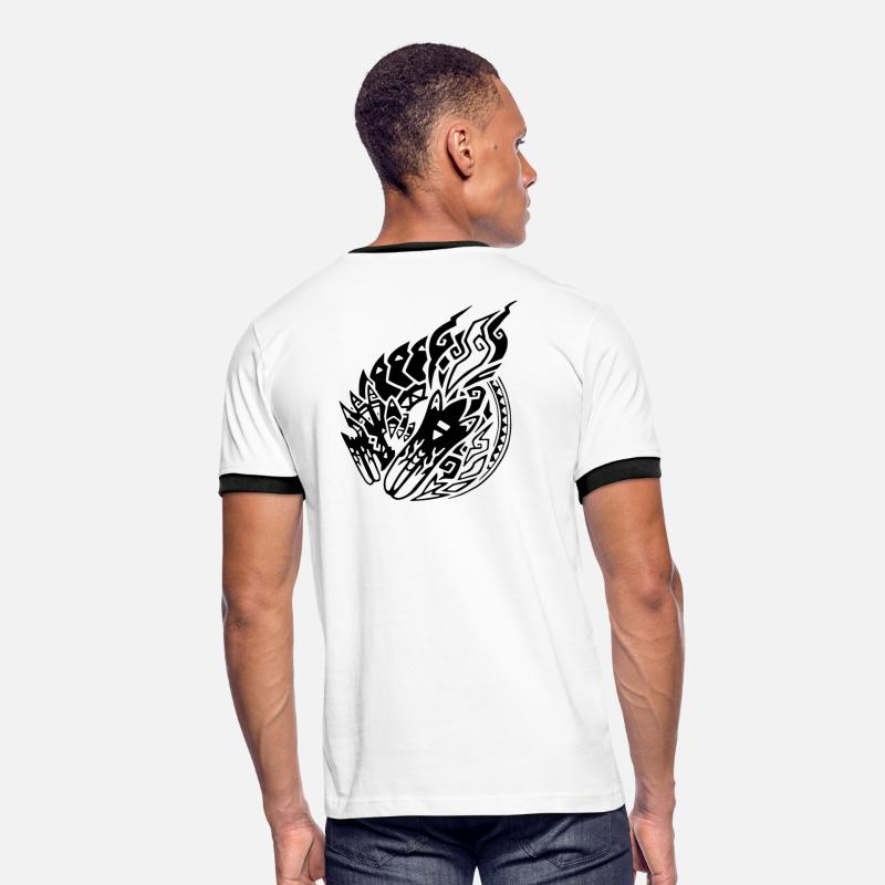 Monster Hunter T-Shirts - Brachydios - Men's Ringer T-Shirt white/black