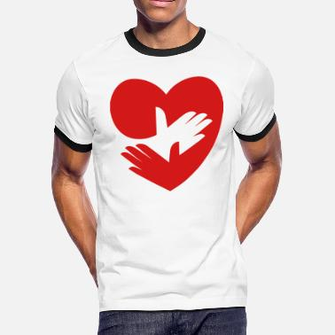 Take Care Of RedHeart - Take Care of Yourself - Men's Ringer T-Shirt