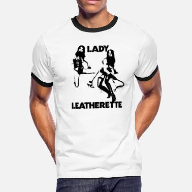 Leather Strips LADY LEATHER - Men's Ringer T-Shirt