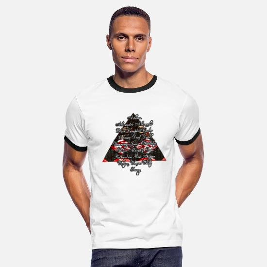 Black T-Shirts - DST Founders Design with Pyramid - Men's Ringer T-Shirt white/black