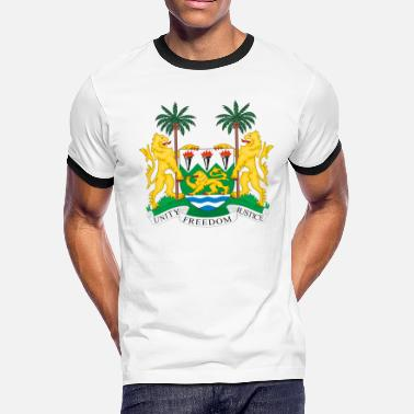 Sierra Leone Coat of Arms SL - Men's Ringer T-Shirt