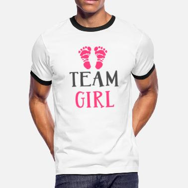 Baby Shower Team Girl - Men's Ringer T-Shirt