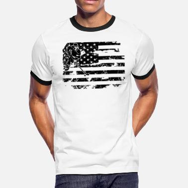 Field Hockey Flag Field Hockey Flag Shirt - Men's Ringer T-Shirt
