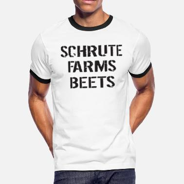 269873b99 Schrute Farms Beets Adult Funny Humor Tv Countrysi - Men's Ringer T