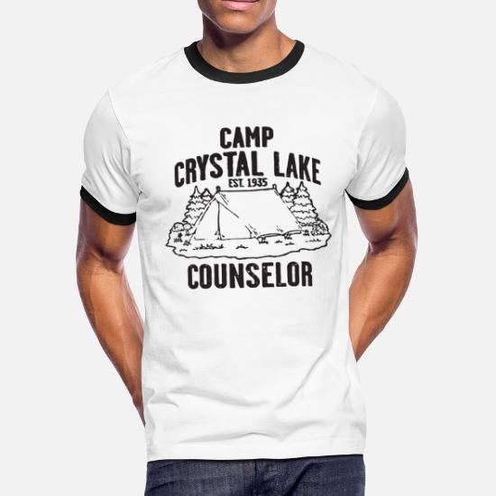851a5fc68 Camp T-Shirts - Camp Crystal Lake Counselor Friday The 13Th Retro - Men's  Ringer