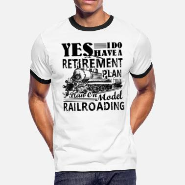 Retiret Model Railroading Shirt - Model Railroading Tshirt - Men's Ringer T-Shirt