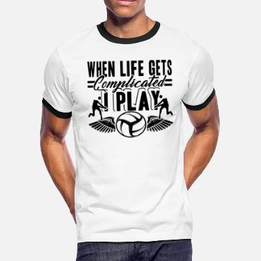 I Play Volleyball I Play Volleyball Shirt - Men's Ringer T-Shirt