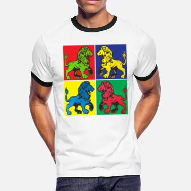 Pop Art Lion Pop Art - Men's Ringer T-Shirt