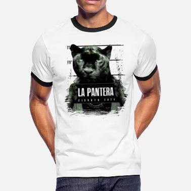8a8eb692b652a Animal Print Jaguar Animal Print Black Panther - Men's Ringer T-