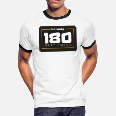 Dart Players Dart Darts Player Gift- 180 Dart Points - Men's Ringer T-Shirt