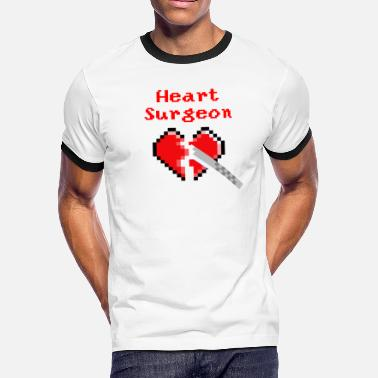 Surgeon Art heart surgeon - Men's Ringer T-Shirt