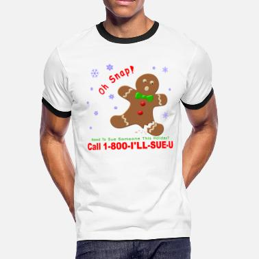 Lawsuit Gingerbreadman Lawsuit - Men's Ringer T-Shirt