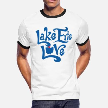 Erie Lake Erie Love - Men's Ringer T-Shirt