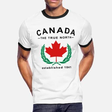 True North Strong Canada The True North Design - Men's Ringer T-Shirt