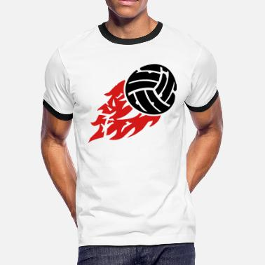 Beach Volleyball volleyball_fire_ga2 - Men's Ringer T-Shirt