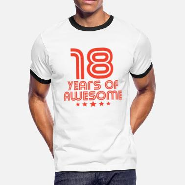 September 18th Birthday 18 Years Of Awesome 18th Birthday - Men's Ringer T-Shirt