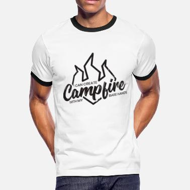Schiele Camping campfire camper gift idea camp nature fun - Men's Ringer T-Shirt