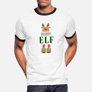 Daddy Elf Daddy Elf - Men's Ringer T-Shirt