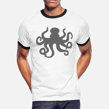 Cirrus Octopus design gift idea - Men's Ringer T-Shirt