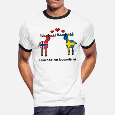 Norway Moose Norway Sweden Scandinavia Love No Boundaries - Men's Ringer T-Shirt