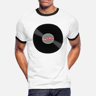 Old School Djs Techno DJ - Retro Vinyl - Men's Ringer T-Shirt