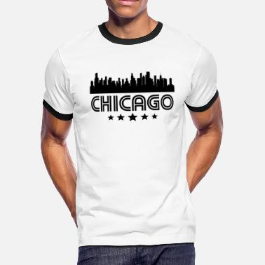 Retro Chicago Retro Chicago Skyline - Men's Ringer T-Shirt