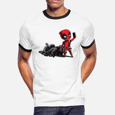 Deadpool Deadpool Selfie - Men's Ringer T-Shirt
