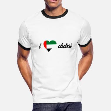 f69191d6 I Love Dubai I love india heart design! Gift idea for traveler - Men&#.  Men's Ringer T-Shirt